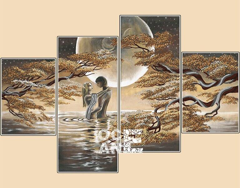 DIY 3D алмазный мозаика романтический любовник алмазный крест картина стежок алмаз вышивка триптих home decor Мульти-изображения D531(China)