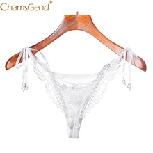 Buy Chamsgend Intimates Sexy Underwear Women Hot Flower Lace Hollow G String Briefs Sexy Panties Linegrie Thongs V String 80111