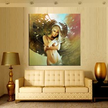 1 panel modern nude painting colorful naked woman oil painting on canvas fashion home decoration picture