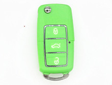 Green color replace car key shell for VW 3 button no remote no chip without blade 1pc auto parts