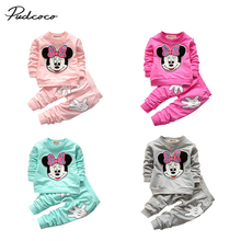 Lovely Baby Girls Minnie Mouse TopsPants 2Pcs Costume Outfits Set autumn winter spring clothing set