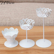KiWarm On Sale Metal Iron Candle Holder Wedding Cupcake Stand Cake Dessert Holder Display Flower Vase Craft For Home Party Decor