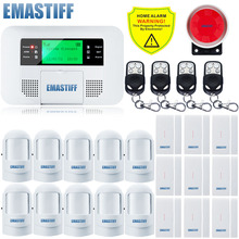 Free Shipping!Wireless PSTN GSM SMS Alarm System Home security Alarm system with Menu screen Keyboard NEW Door PIR Motion Sensor