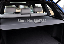 High quality!Aluminum + canvas BLACK RETRACTABLE CARGO COVER REAR TRUNK SECURITY SHADE for BMW X5 E70 2008-2013(China)