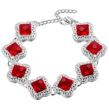 nice bracelet 925 free shipping Fashion jewelry silver gift gem Hand catenary PS590