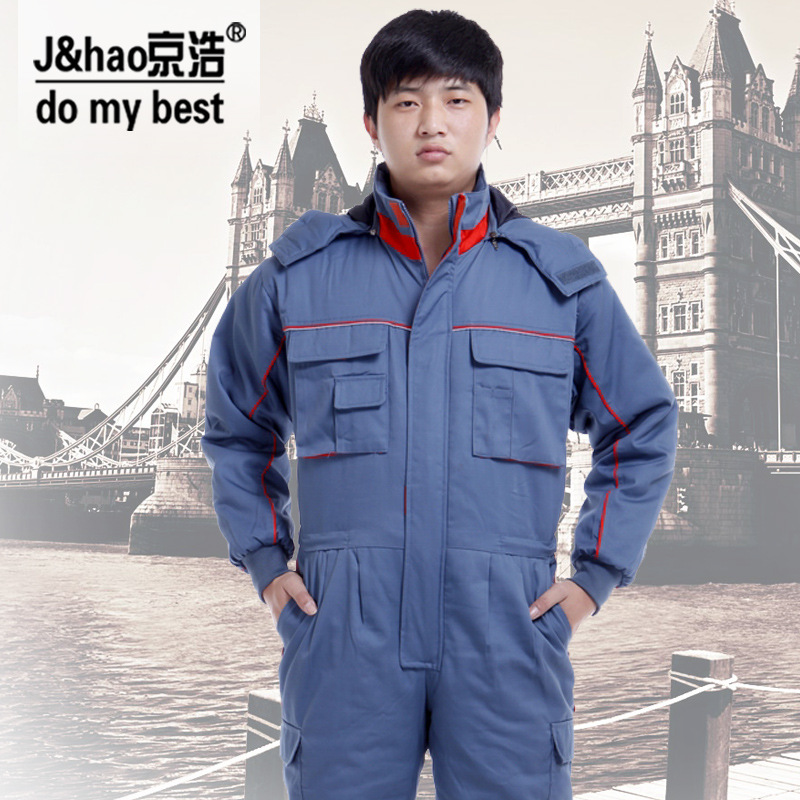 Warm Cotton Clothing Coveralls for Men and Women in Autumn and Winter, Work Clothes Jumpsuit AC-7333<br><br>Aliexpress