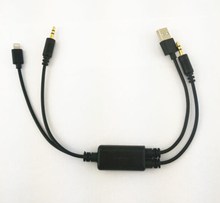 For iPod iPad iPhone 5 5S 5C 8pin USB 3.5MM AUX Interface Cable Adapter For BMW Mini(China)