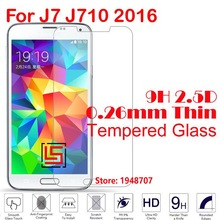 Explosion Proof Best 2.5D 0.26mm 9H Phone Cell Front Tempered Glass Cristal For Samsung Galaxy J7 J710 2016 J 710 7