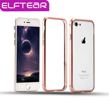 ELFTEAR Aluminum Metal Bumper Frame for iPhone 6 6s 7 7 Plus Ultra-thin Slim Hard Bumper Aluminum Alloy Frame Phone Case