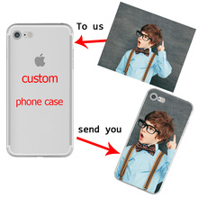 Custom Design Phone Case Printed Coque for iphone 6 6S 7 Plus 5 5S SE DIY Photo Soft Silicon Transparent tpu for Samsung Cover