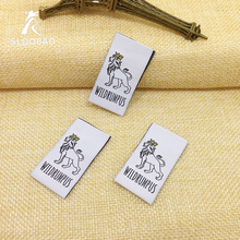 Free Shipping Customized garment labels / woven labels/clothing embroidered tags/LOGO with cut and fold free charge