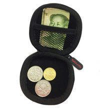 Portable Mini Coin Purse PU EVA Box for Coins Earphone Headphone SD TF Cards Cable Cord Wire Storage Key Wallet Bag Coin Purses(China)