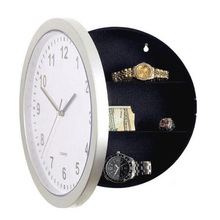 Novelty Wall Clock Diversion Safe Secret Stash Money Cash Jewelry Toy Storage Security Lock Box Tin Container Organizer Huf()