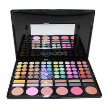 78 Color Eyeshadow Makeup Pallete Cheek Blush Pressed Powder Make Up Set Smoky Eye shadow Palette Matte Shining 1#(China)