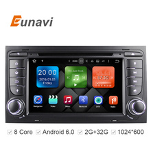 "Eunavi  7"" Octa 8 Core 64bit 32GB Android 6.0 Car DVD Player 2 din for Audi A4/S4(2003-2013) with TPMS/OBD2/4G/DAB+/ Maps GPS"