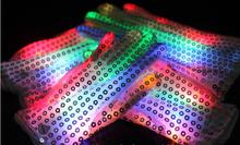 7 Colors LED Sequined Gloves Wedding Rave Finger Lighting Party Decorations Flashing Glow