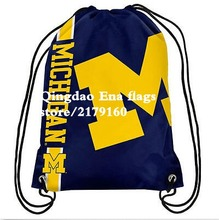 35*45 cm knitted polyester Michigan Wolverines Big Logo flag bag outdoor backpack