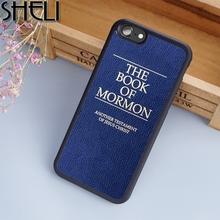 SHELI The Book of Mormon Jesus Christ Bible Phone Case For iPhone 6 6S Plus 7 8 Plus X 5S Cover For Samsung Galaxy S7 S8 edge(China)