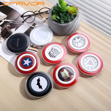 Ifavor For Hot Iron Man QI Wireless Charger For Samsung Galaxy S6/S6 Edge Captain America Shield Universal Charging Pad