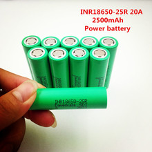 100% Korea imports battery INR18650-25R 2500mAh 18650 battery 3.7 V discharge 20a Dedicated electronic cigarette battery power