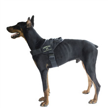 OneTigris Tactical Dog Training Vest Nylon Adjustable Patrol Harness Service Dog Vest Loop on Sides for ID Patch