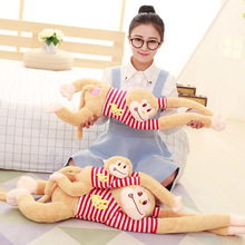 80CM The toy manufacturer sells new striped long arm monkey dolls for birthday gift of girlfriend