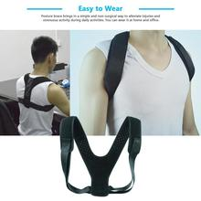 Upper Back Posture Corrector Clavicle Support Belt Back Pain Relief Improve Hunchback Spine Hunchback Support A6(China)