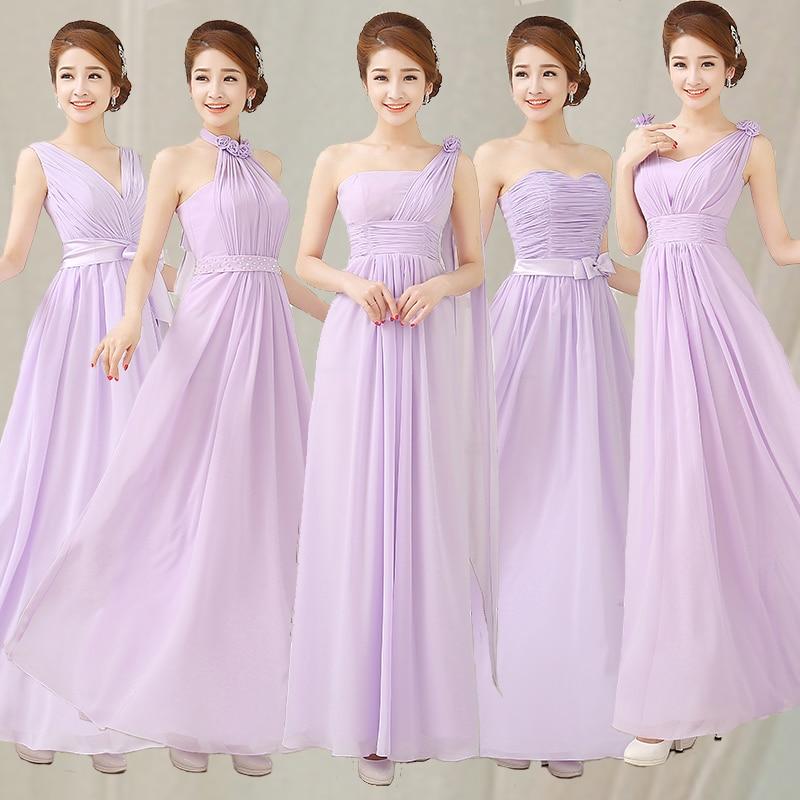 cheap bridesmaid dresses under 50 long liliac light purple sleeveless chiffon bridesmaid prom dress for wedding