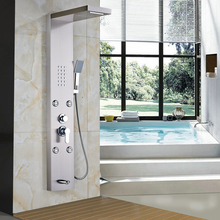(Ship From US) Senlesen Shower Panel Column Body Massage Jets With ABS  Handheld Shower Brushed