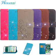 "Phone Case For Acer Liquid Z6 Case Flip 5.0"" Clover Leather + Silicone Paste Drill Wallet Cover For Acer Liquid Z6 Cover Capa(China)"