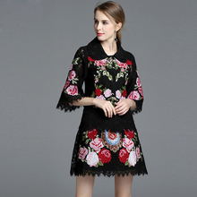Buy 2017 Autumn Runway Designer Vintage Suit Set Women's Clothes amazing Elegant 2 Piece Coat Floral Embroidery Skirt Suit Set for $69.88 in AliExpress store