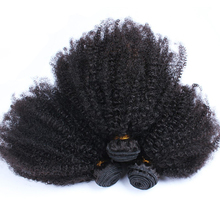 Human Hair Extensions Mongolian Afro Kinky Curly Virgin Hair Human Hair 3 Bundles You May(China)