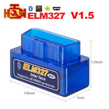 Mini ELM327 V2.1 Bluetooth OBD2 Code Reader super Mini ELM 327 For Scanner Auto Car automotive Diagnostic tool for Android/ PC(China)