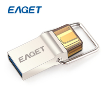 EAGET CU10 Original Type-C USB3.0 Flash Drive Micro USB OTG 16gb 32gb 64gb Pendrive Smart Phone Pen Drive Memory Portable U Disk