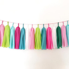 Wedding Decoration Tissue Tassels Paper Garland Wedding Event Birthday Party Balloon Hanging Decor 5pcs/pack Babyshower Supplies