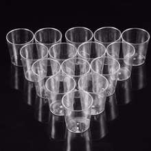28ml Mini Transparent Clear Reusable Plastic Disposable Party Birthday Jelly Cups Tumblers Water Drink Short Cup(China)