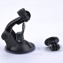 New Car Suction Cup Adapter Window Glass Mount Holder Tripod for Gopro Hero 5 4 3 2 Sjcam Sj4000 Xiaomi Yi Camera Accessories(China)