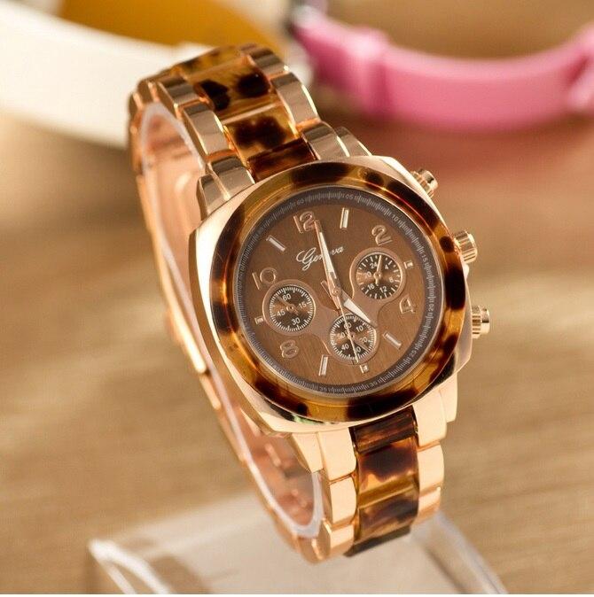 NEW Geneva Metal Watch Women Leopard Rhinestone Wristwatch Woman Golden Watch crystal analog quartz Dropshipping<br><br>Aliexpress