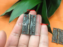 36*23mm alloy hinge antique wooden stamp hinge MM Box Hinge Wooden Gift Box Hinge Printing Packaging Zinc Alloy