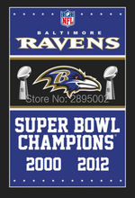 Baltimore Ravens Super Bowl Champions Man Cave Sports Banner Basketball Flag 3' x 5' Custom Hockey Baseball Football Flag