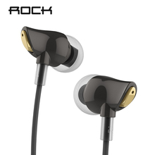 Rock Zircon Stereo Earphone In Ear Headset With Micro 3.5mm In Balanced Immersive Bass Earphones for iPhone, for Xiaomi, Huawei