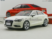 White 1:18 Car Model Audi A3 2012 Sedan Alloy Toy Car Mini Car Miniature Automobile