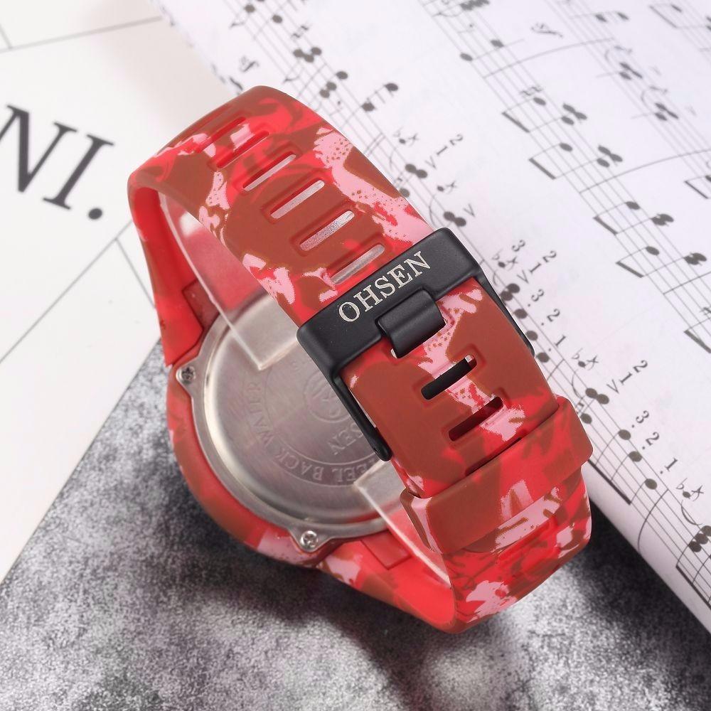 Digital LED Watch Army Green Men Sports Wristwatches Rubber Strap Waterproof Fashion Alarm Watch Clocks Stopwatches Reloj Hombre14