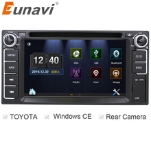 Eunavi 2 din car dvd player radio stereo gps navigation for Toyota Hilux VIOS Old Camry Corolla Prado RAV4 Prado+Reverse camera