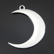 8PC Antiqued Silver Zinc Alloy Creative Moon Pendant DIY Charms Jewelry Necklace Phone Key Chain Accessory 43*31*2mm 39339(China)