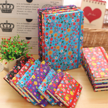Diary Notebook School paper 80 sheets Notepad Note book Creative Flowers Cover Office School Supplies gift