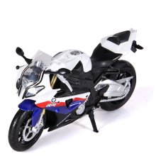 CaiPo 1:12 S1000 Toy Vehicles Motorcycle Model Alloy Pull Back Toy Children Toys Motorcycle Genuine License Collection Gift Car
