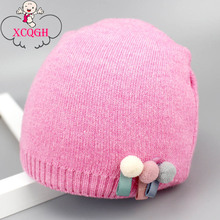 XCQGH Autumn Winter Baby Cap Arrow Pattern Knitted Baby Hat for Infant Toddler Newborn Kids Hat Accessories 0-12month