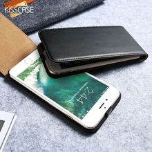 KISSCASE Luxury Elegant Retro Genuine Real Leather Case for iPhone 6 5 7 Cover Vintage Flip for iPhone 6 6S 7 Plus Custom Case