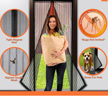 Amy Magic Mosquito Net Screen Curtain Magnets Door Mesh Insect Fly Bug Mosquito Moths flies Net Netting 210*100 cm fenetre